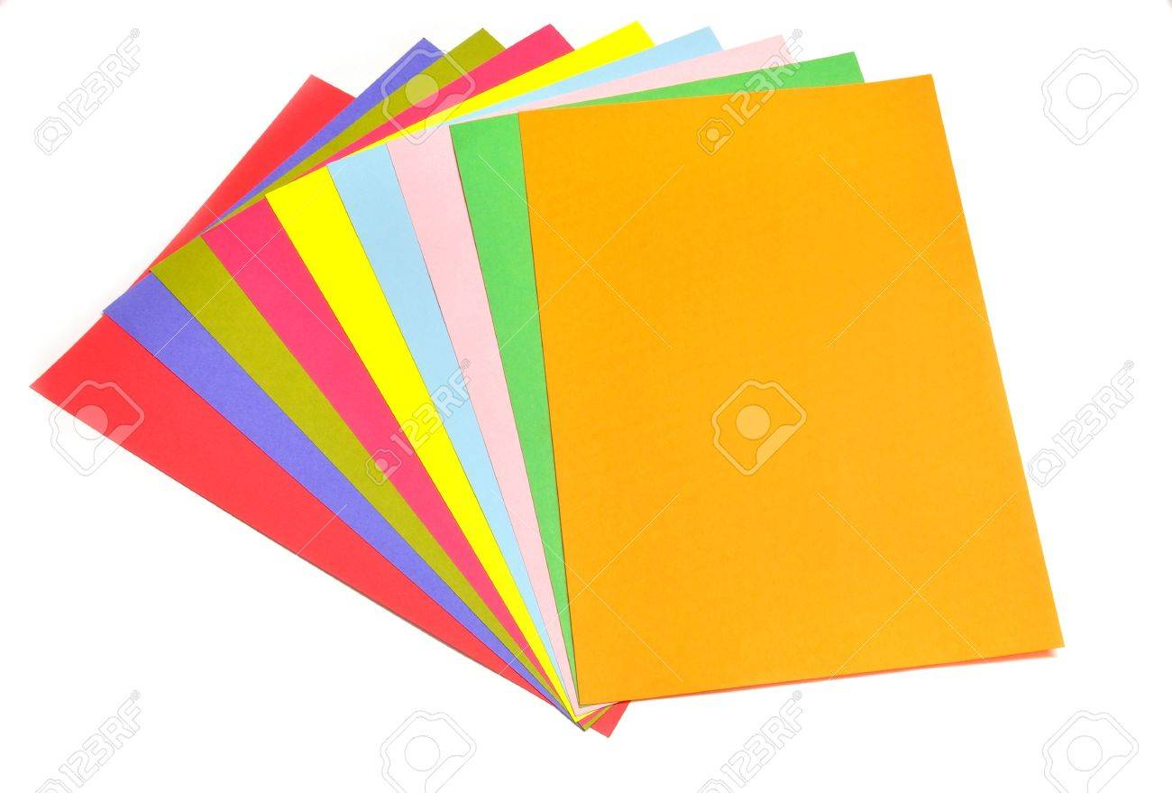Close Up Of Colorful Sheets Of Pastle Paper Stock Photo, Picture And ...