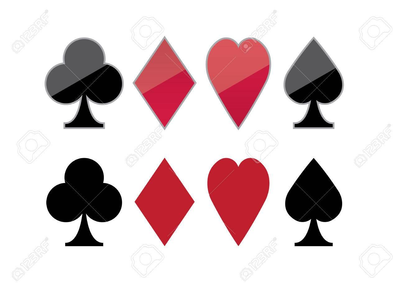 Ilustración Vectorial De Fondo Gráfico De Póquer Color Clubs
