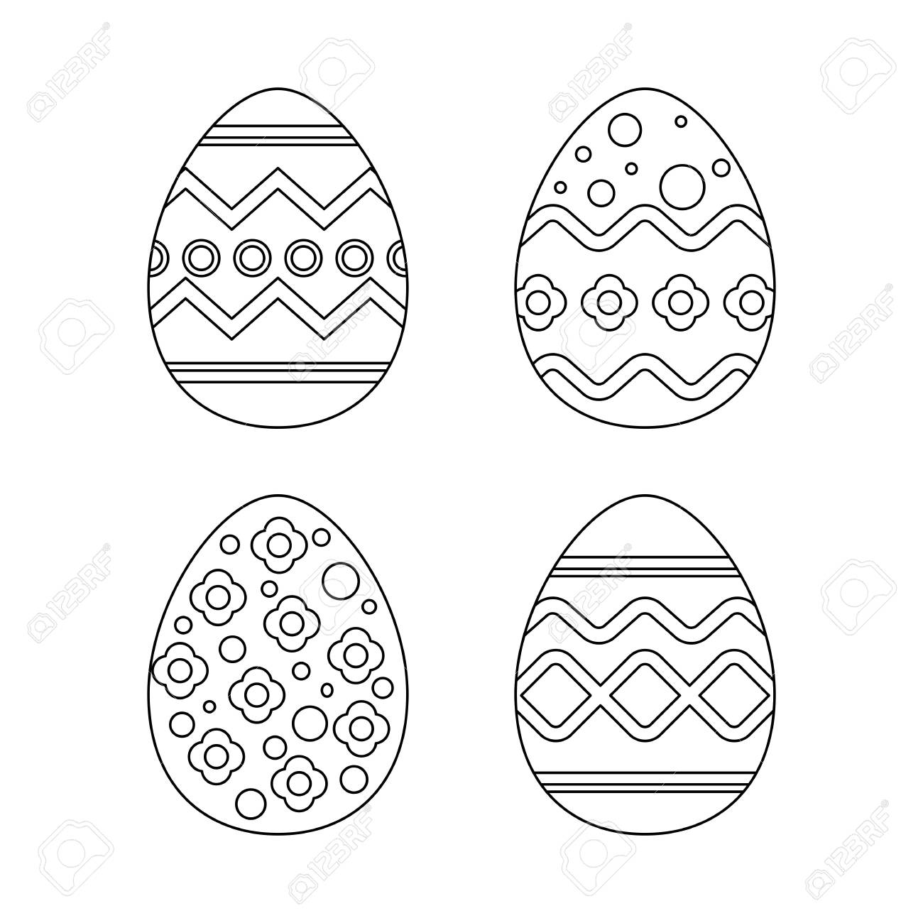 Four easter egg pattern royalty free cliparts vectors and stock four easter egg pattern stock vector 96281398 maxwellsz