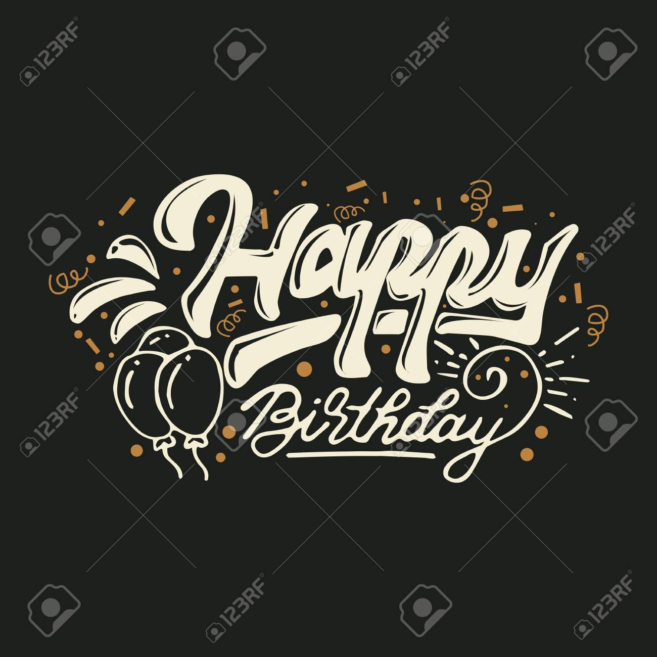 Happy Birthday Greeting Card Vector Illustration Royalty Free