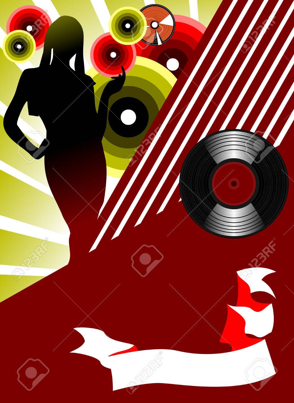 invitation to a party in the style of disco; Stock Vector - 6725869
