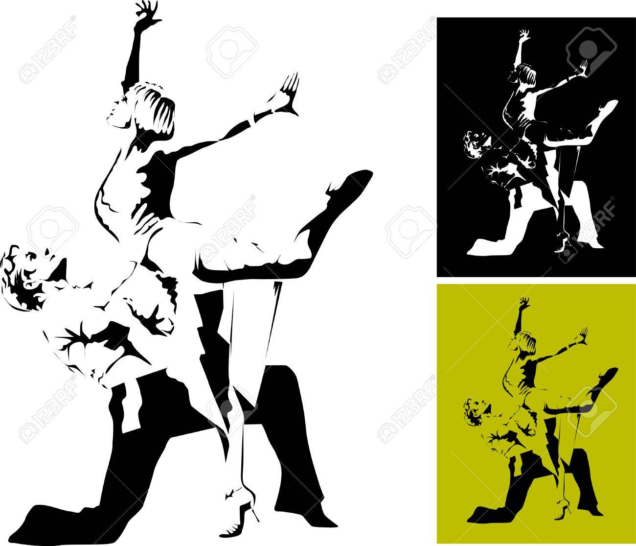 couple participates in competitions in sport dancing Stock Vector - 9057236