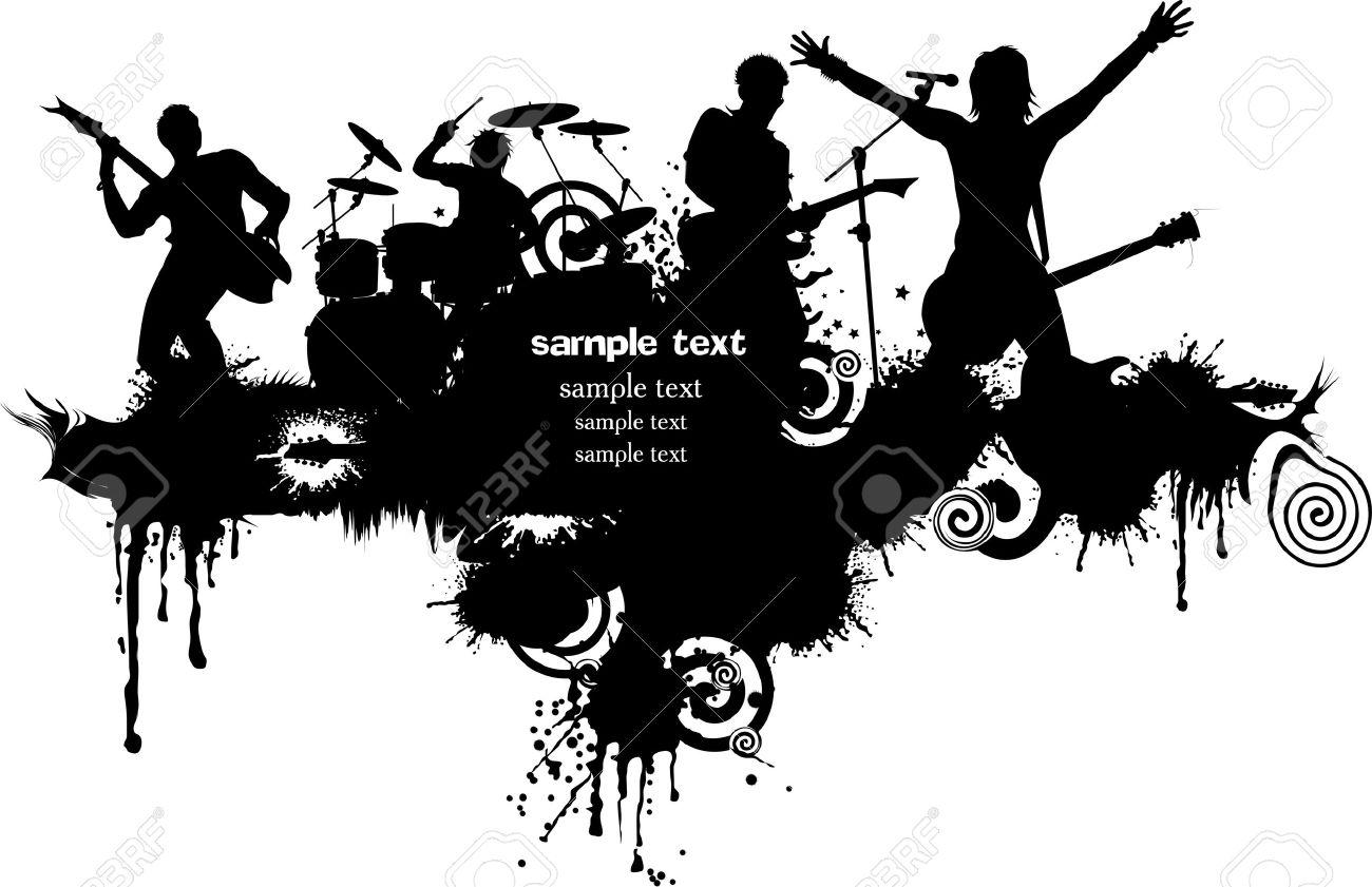 抽象音楽音楽イベントのデザインの背景。 ロイヤリティフリークリップ
