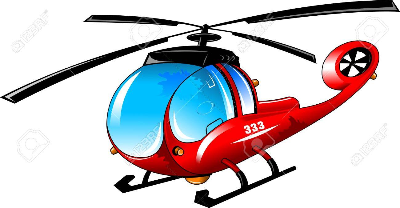 cartoon helicopter on