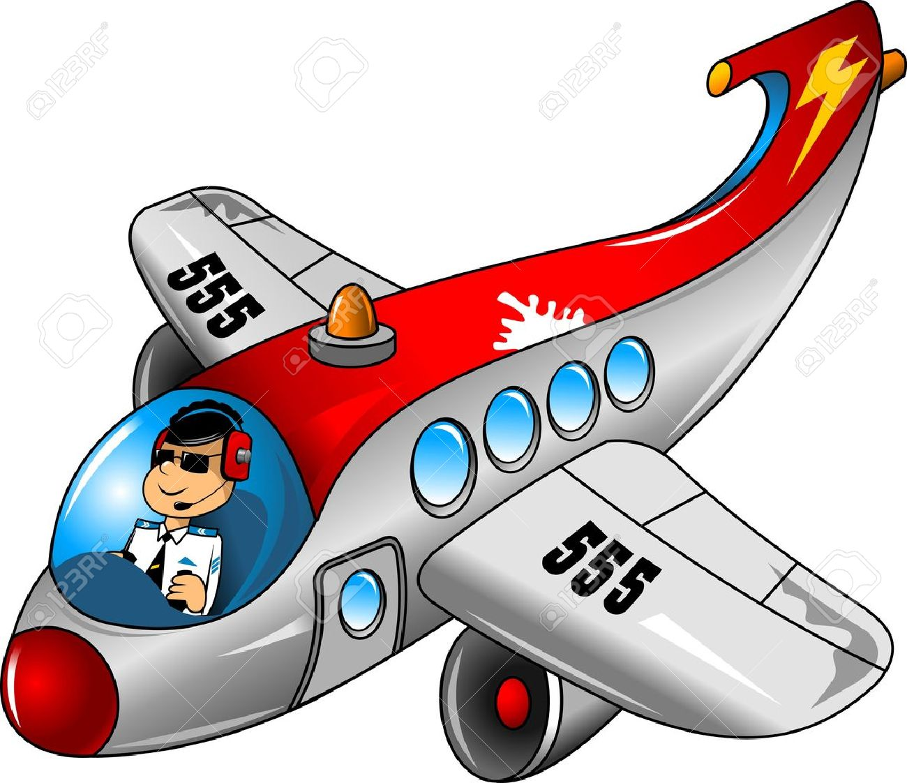 fun on a beautiful airplane pilot royalty free cliparts vectors rh 123rf com Airline Pilot Cartoon new yorker airplane pilot cartoon