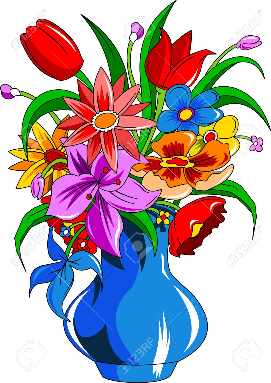 899 Daisy Vase Stock Vector Illustration And Royalty Free Daisy ...