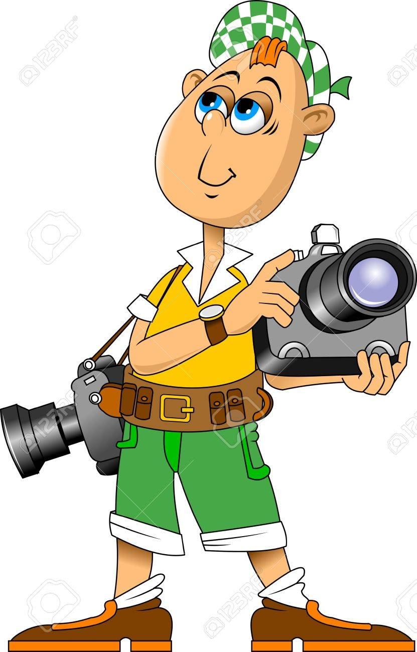Vector Illustration Of Funny Photographer Speaking Vector And Royalty Free Cliparts Vectors And Stock Illustration Image 25994262