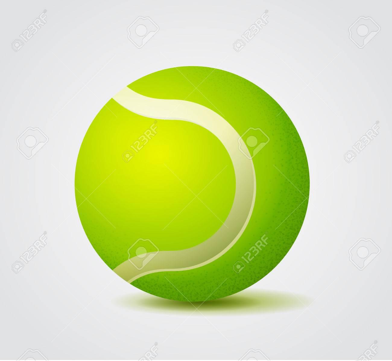 Vivid Green Tennis Ball Color Vector Illustration Royalty Free