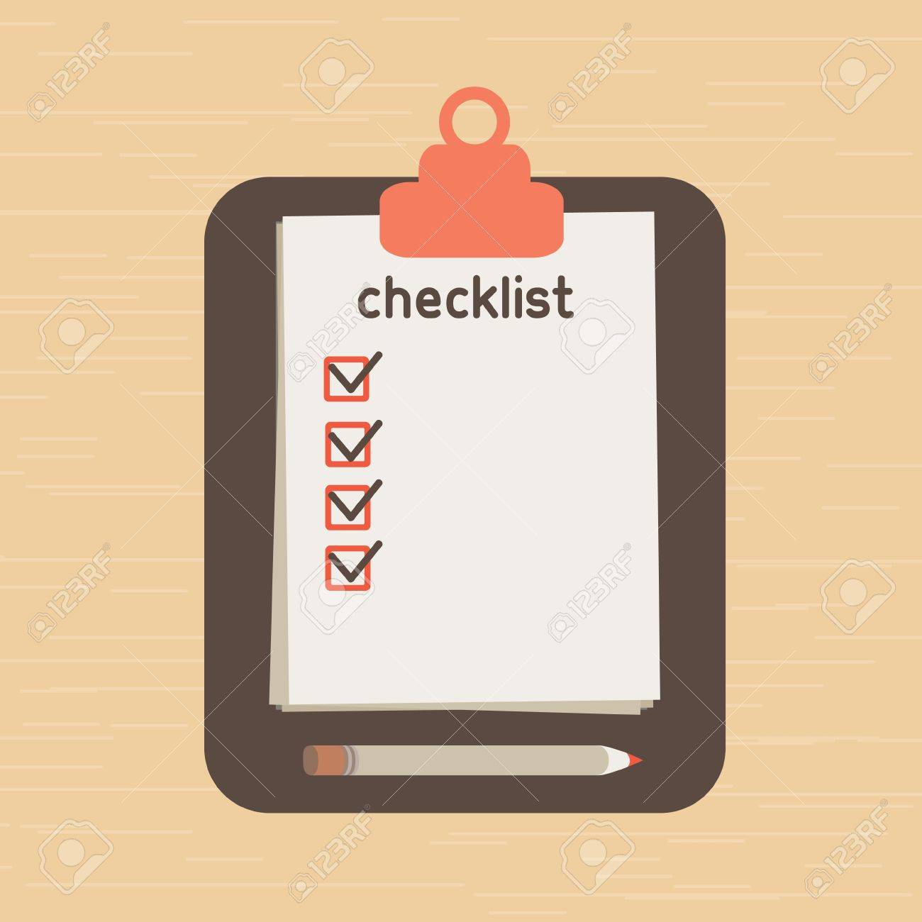 the list put which it is necessary to execute. list of purchases. Stock Vector - 19188352
