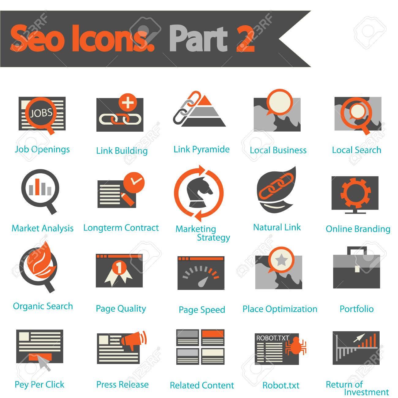 seo icon set part 2 royalty cliparts vectors and stock seo icon set part 2 stock vector 25320242