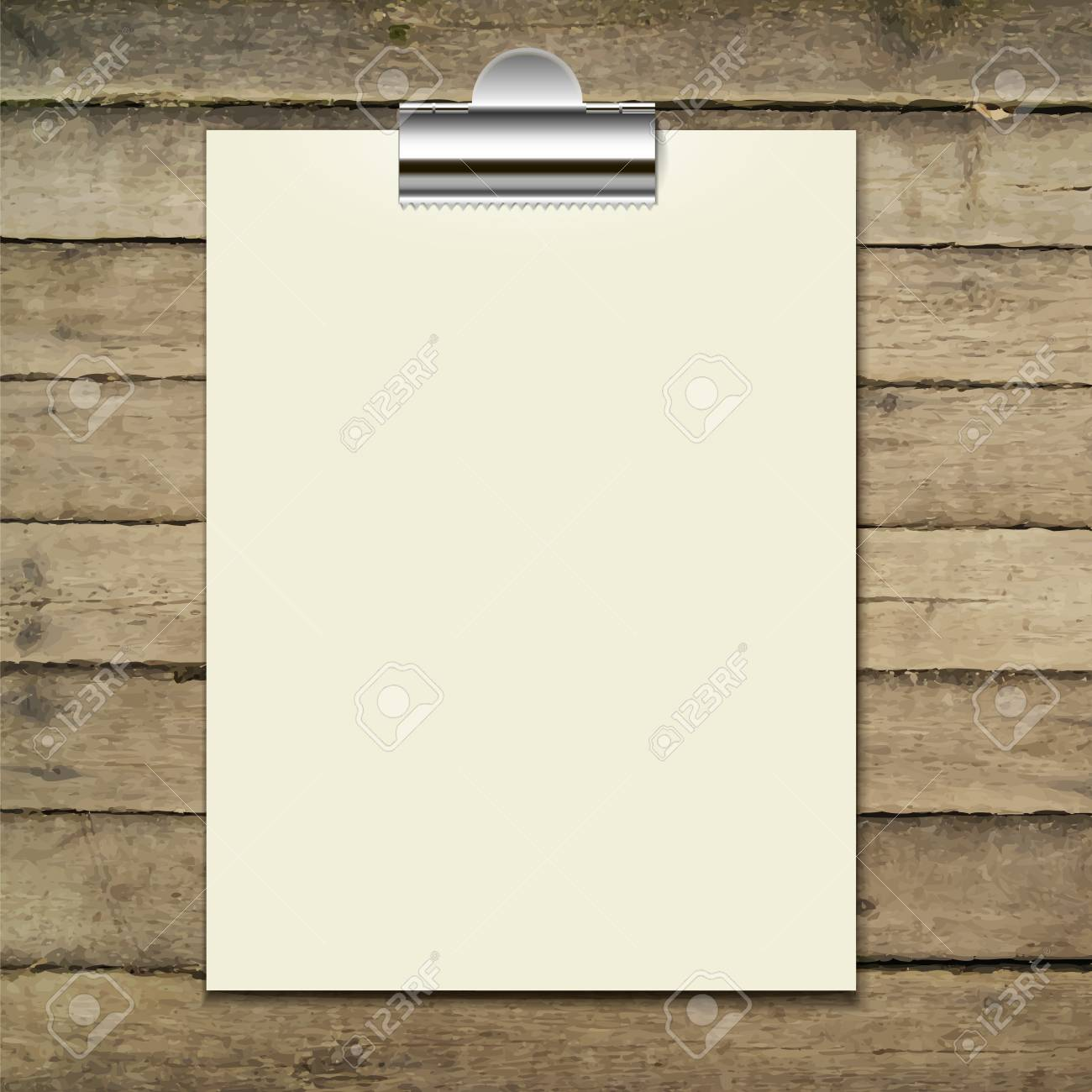 vector template of a paper sheet poster picture frame on the