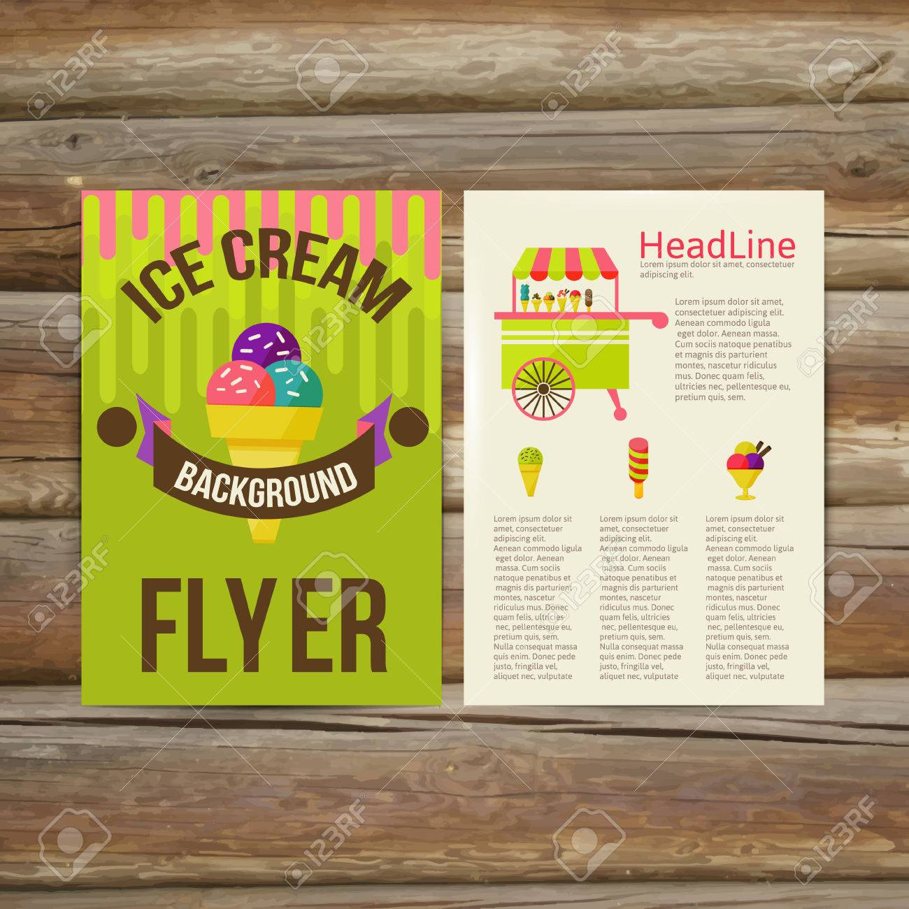 Abstract Brochure Flyer Design Vector Template. Stylish Ice ...