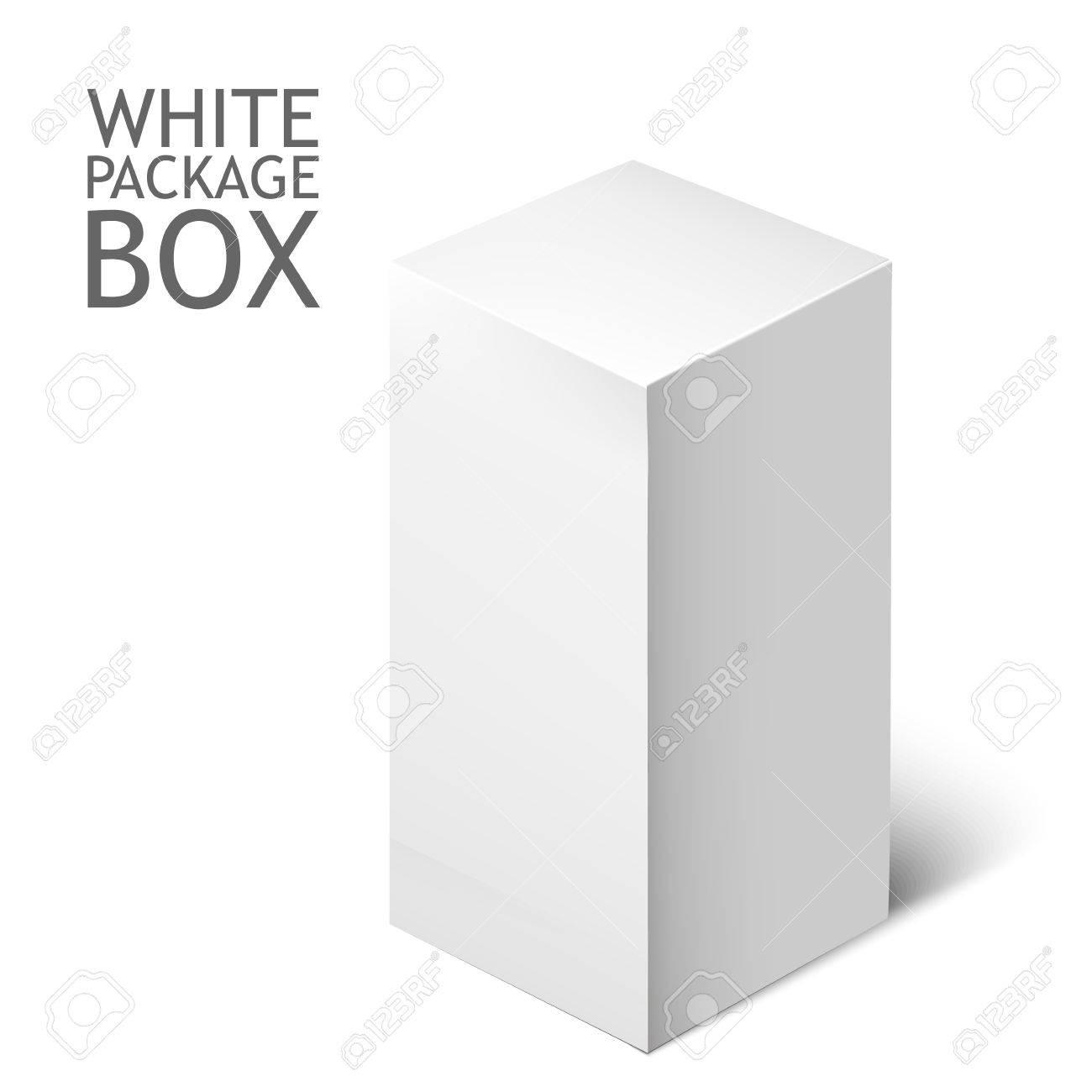 Caja De Cartón Del Paquete. Blanca Plaza Paquete Por Software, DVD ...