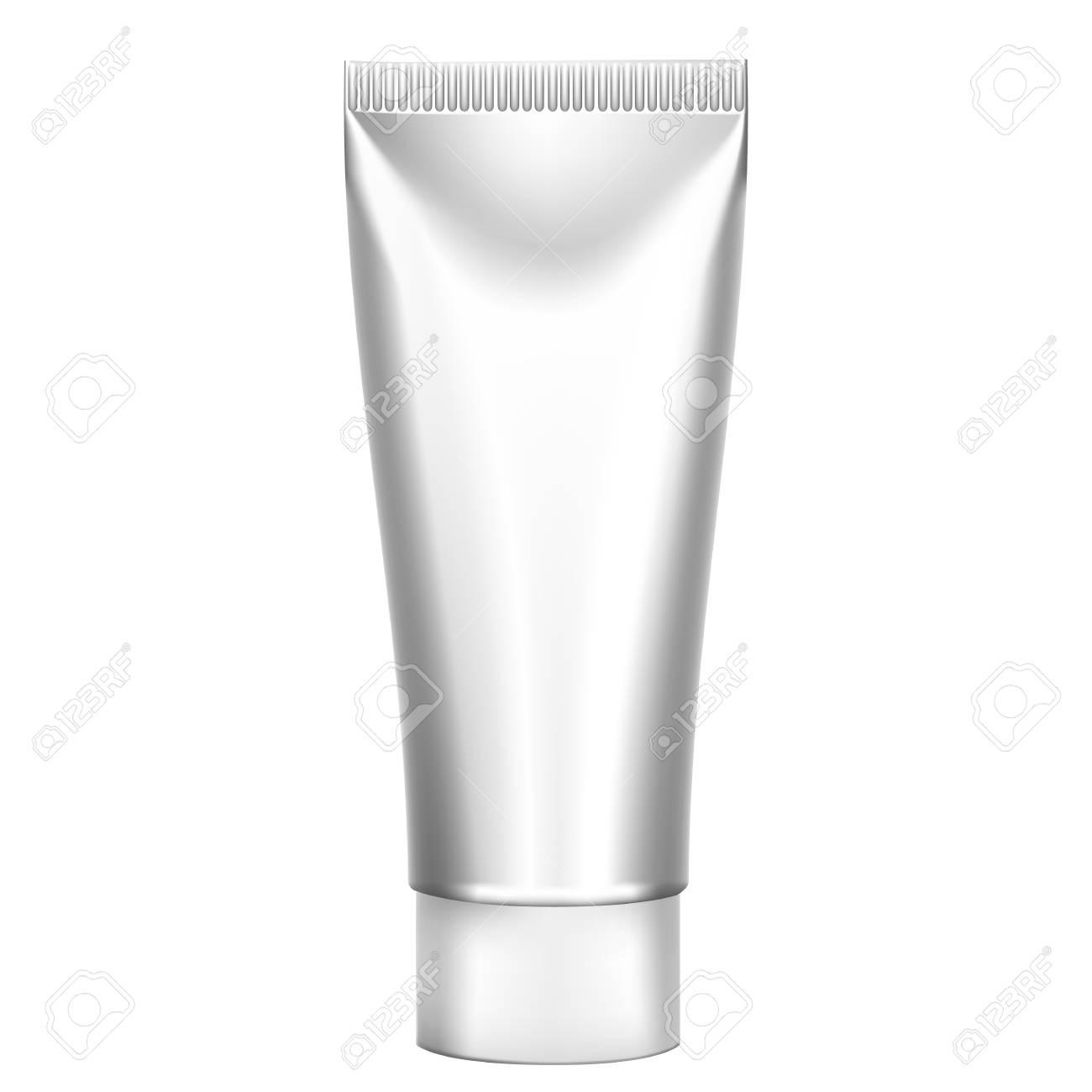 Vettoriale Imballaggio Tubi Realistici Bianco Per Cosmetici