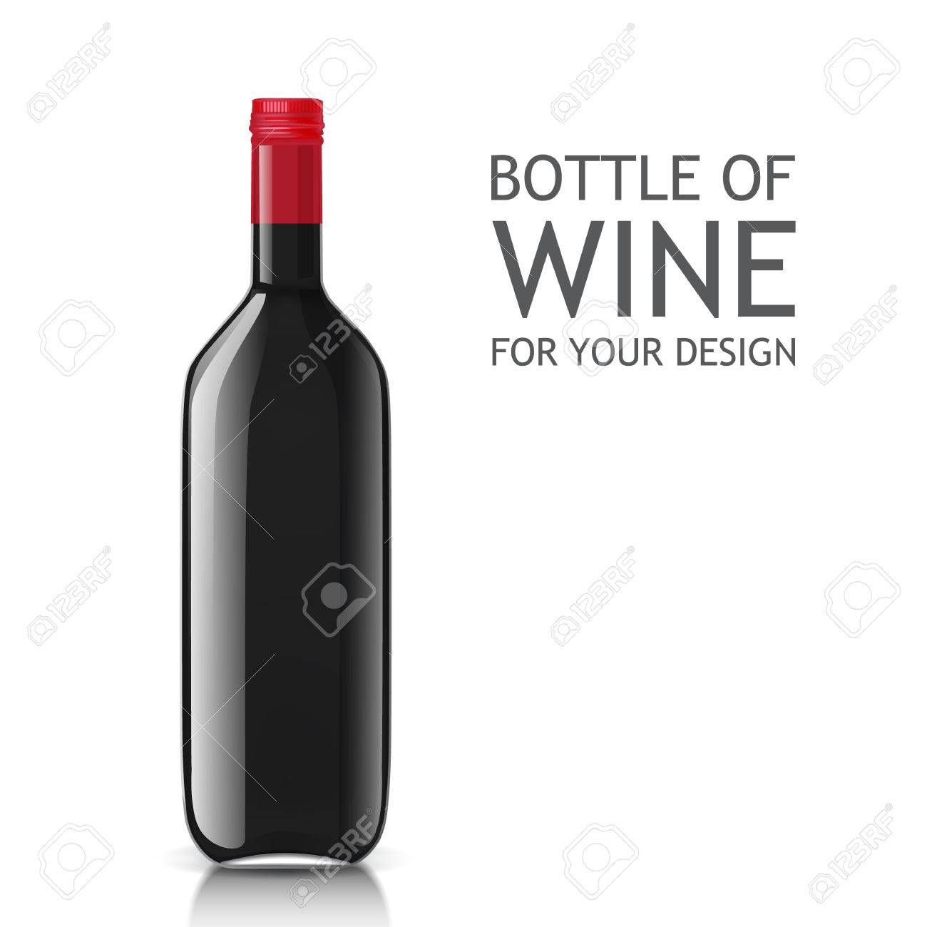 empty glass black bottle template bottle of wine ready for your