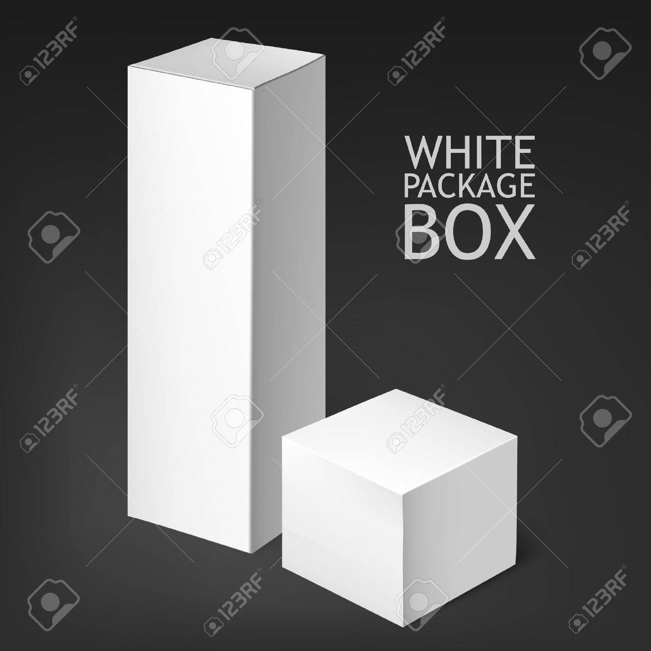 Set Of White Package Box  Mockup Template  he box is suitable