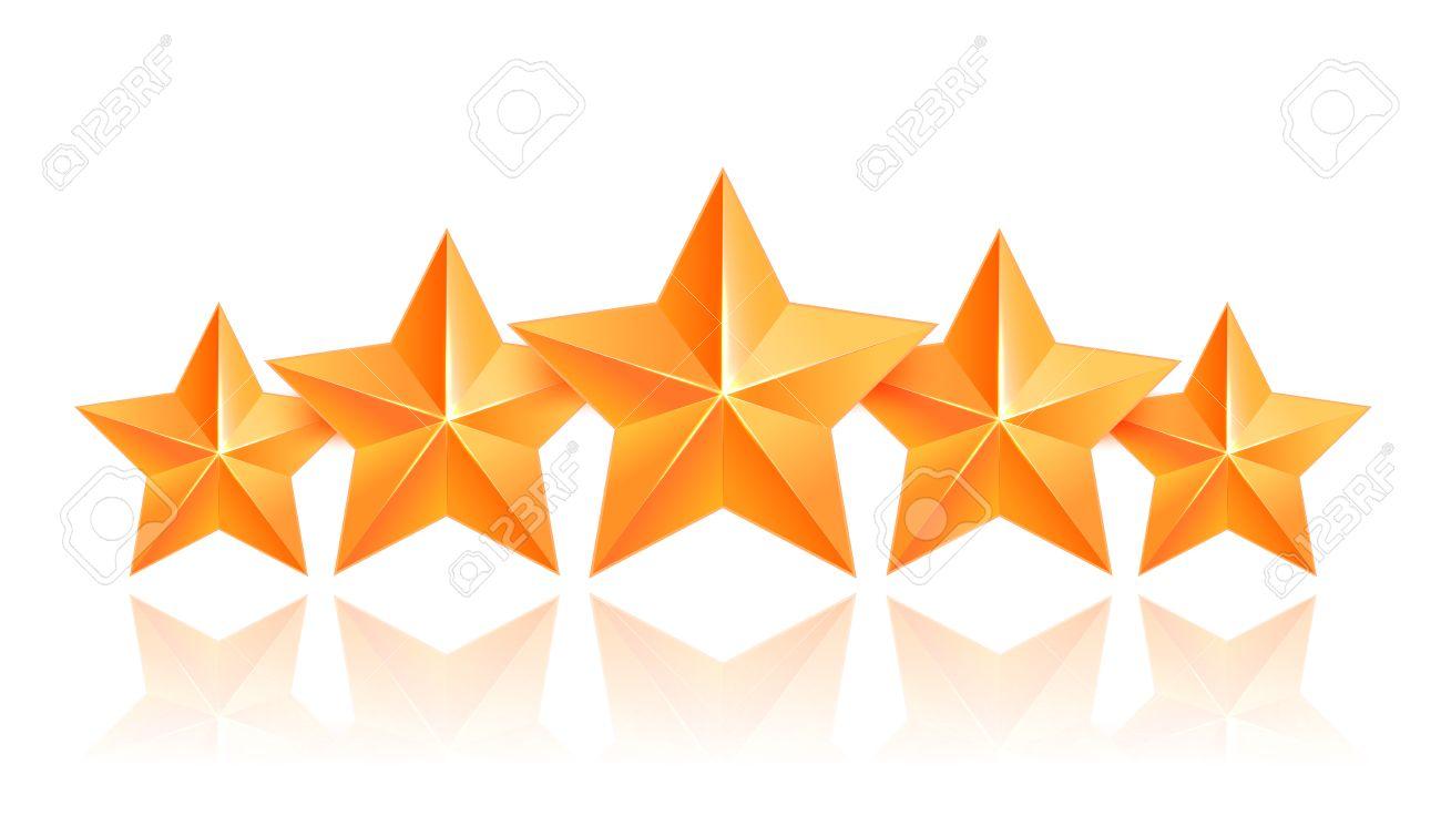 realistic 3d gold star award winner five gold stars good job rh 123rf com Way to Go Clip Art Job Well Done Clip Art