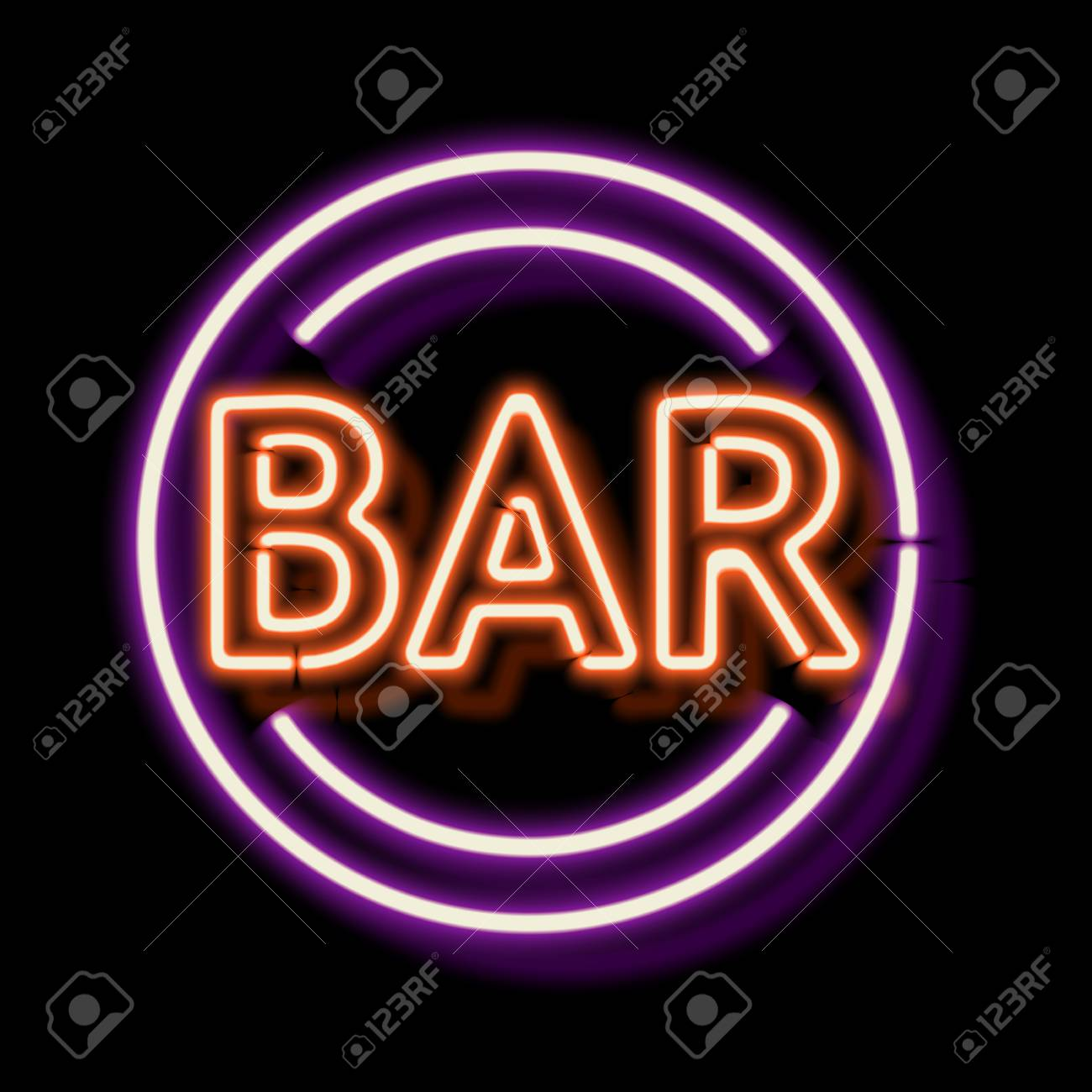 Retro neon sign with the word bar vintage electric symbol burning retro neon sign with the word bar vintage electric symbol burning a pointer to buycottarizona Images