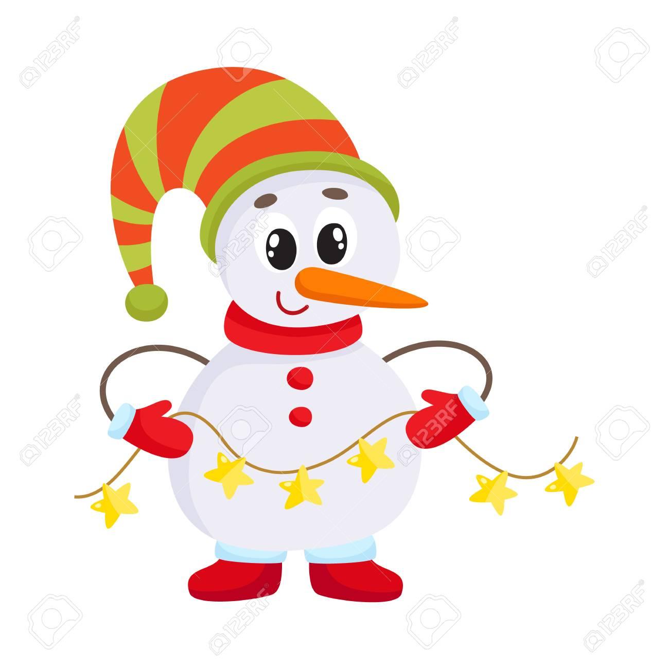 Boneco De Neve Pequeno Bonito E Engracado Que Guarda Uma Festao