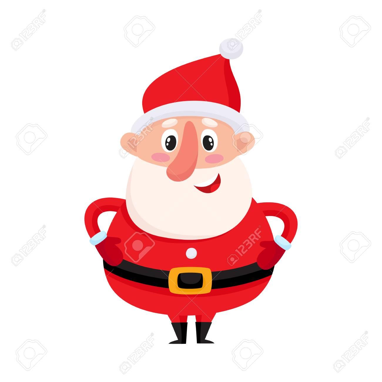 Père Noël Mignon Et Drôle Illustration De Vecteur De Dessin Animé Isolé Sur Fond Blanc Childish Tour Père Noël Attribut De Noël élément De