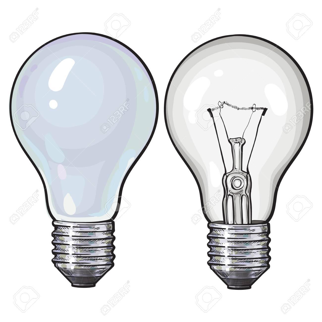Ampoule Dessin fluorescent moderne, économie d'énergie et ampoule tangsten