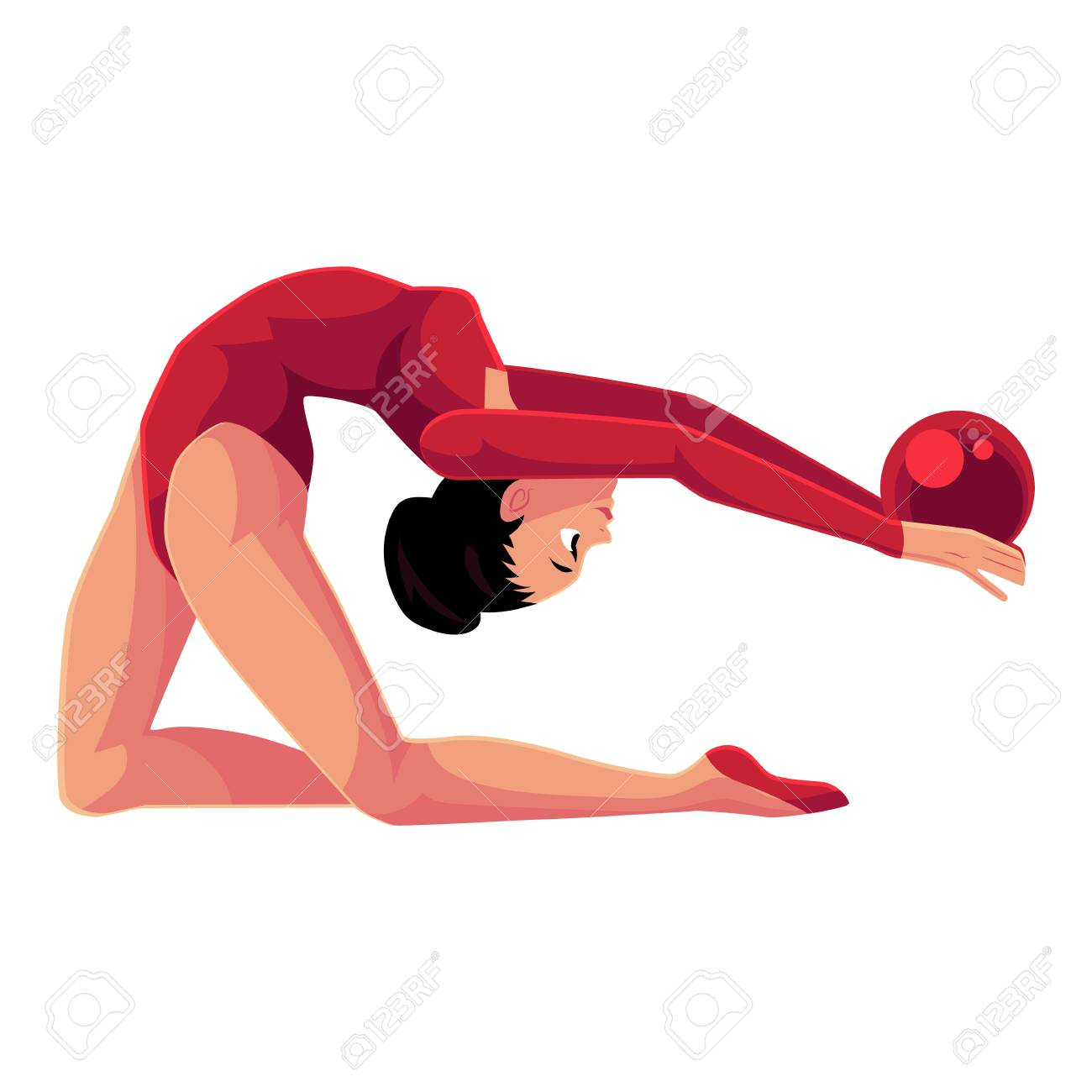 Cartoon Female Gymnast Performs The Splits Royalty Free Cliparts, Vectors,  And Stock Illustration. Image 70226510.