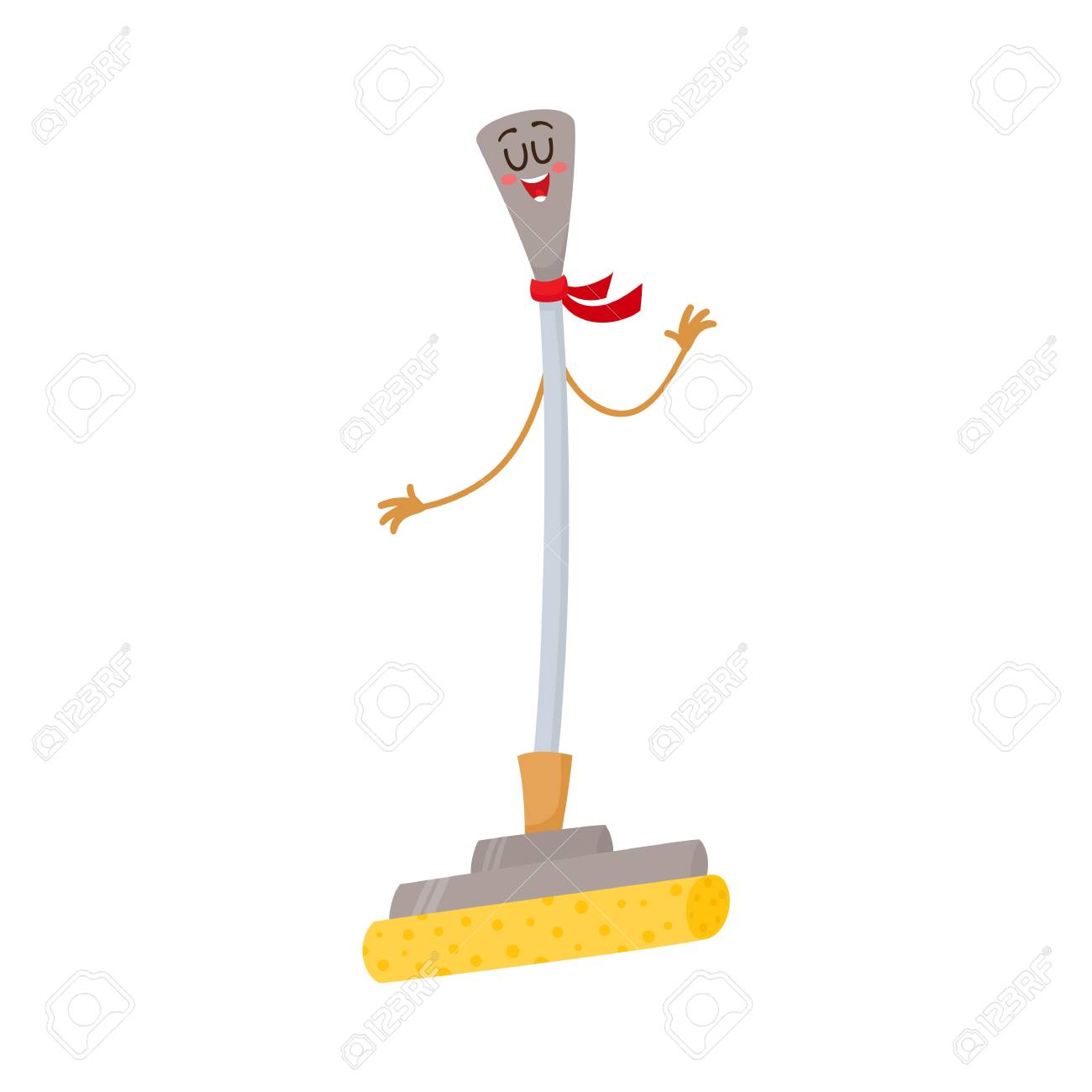 Funny sponge mop character with smiling human face cartoon vector funny sponge mop character with smiling human face cartoon vector illustration isolated on white background pooptronica Image collections