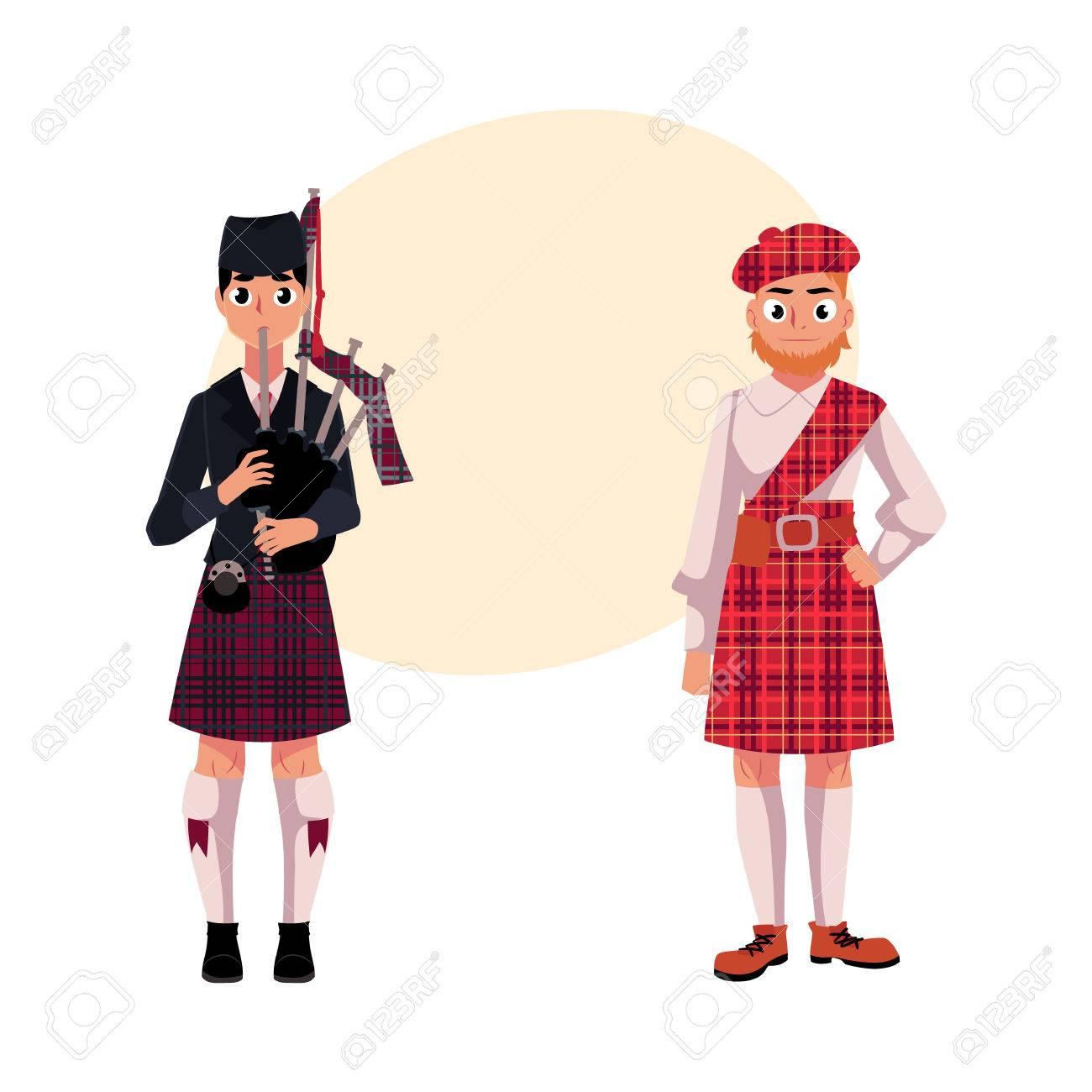 b03d714f79 Dos Hombres Escoceses En Ropa Nacional