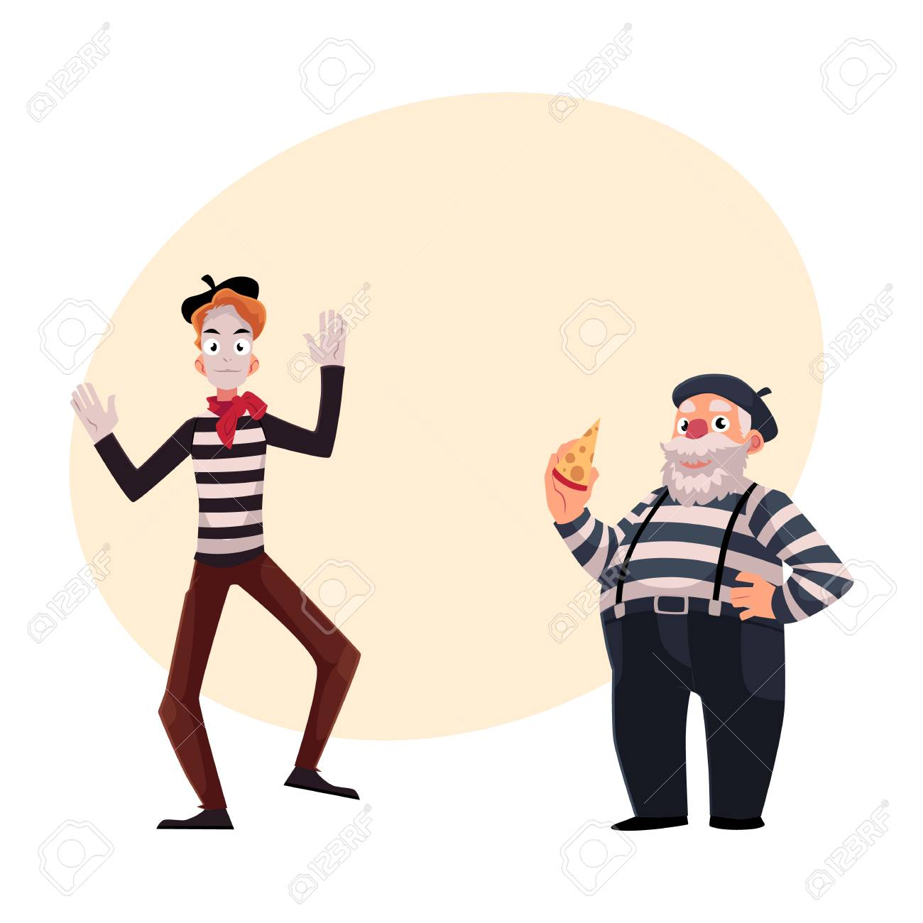 Two french mimes young and old in traditional costumes as two french mimes young and old in traditional costumes as symbols of france biocorpaavc