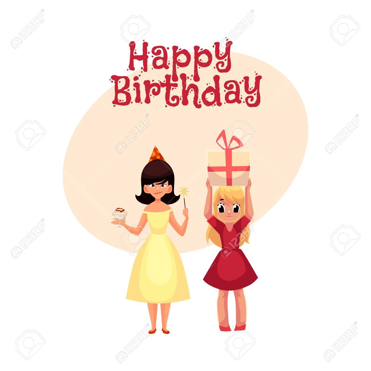 5e8440b8b Foto de archivo - Tarjeta de feliz cumpleaños vector de felicitación