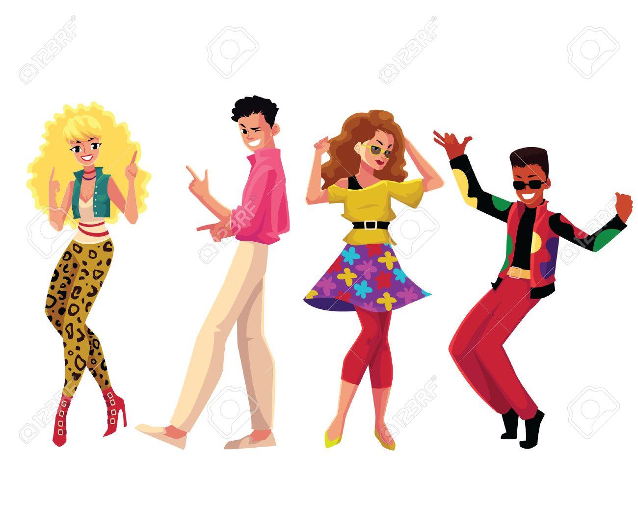 La Gente En Los Anos 80 Estilo De Los Anos Ochenta Bailando Disco