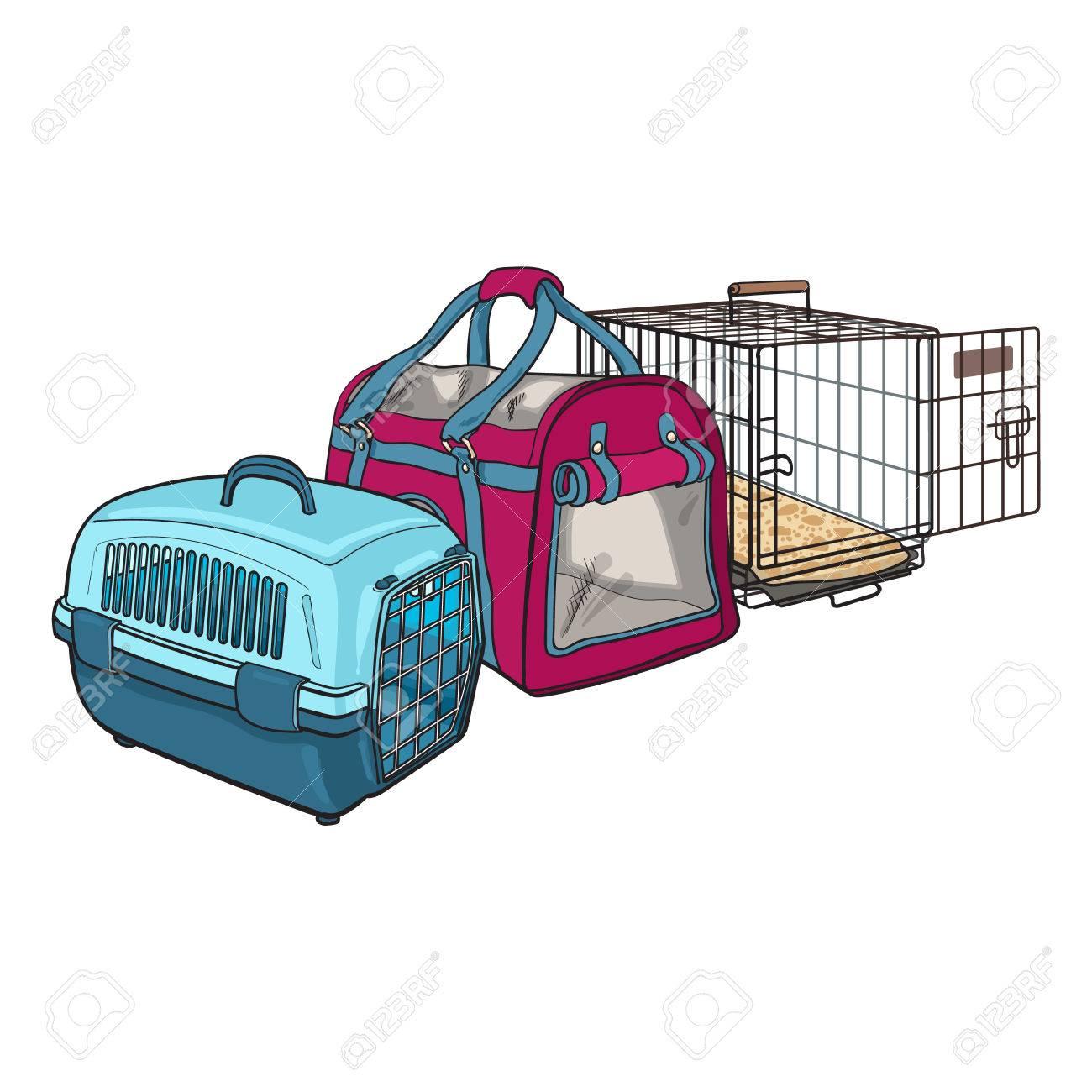 Drei Arten Von Tier-Träger, Transport-Tasche, Kunststoff-Gehäuse ...