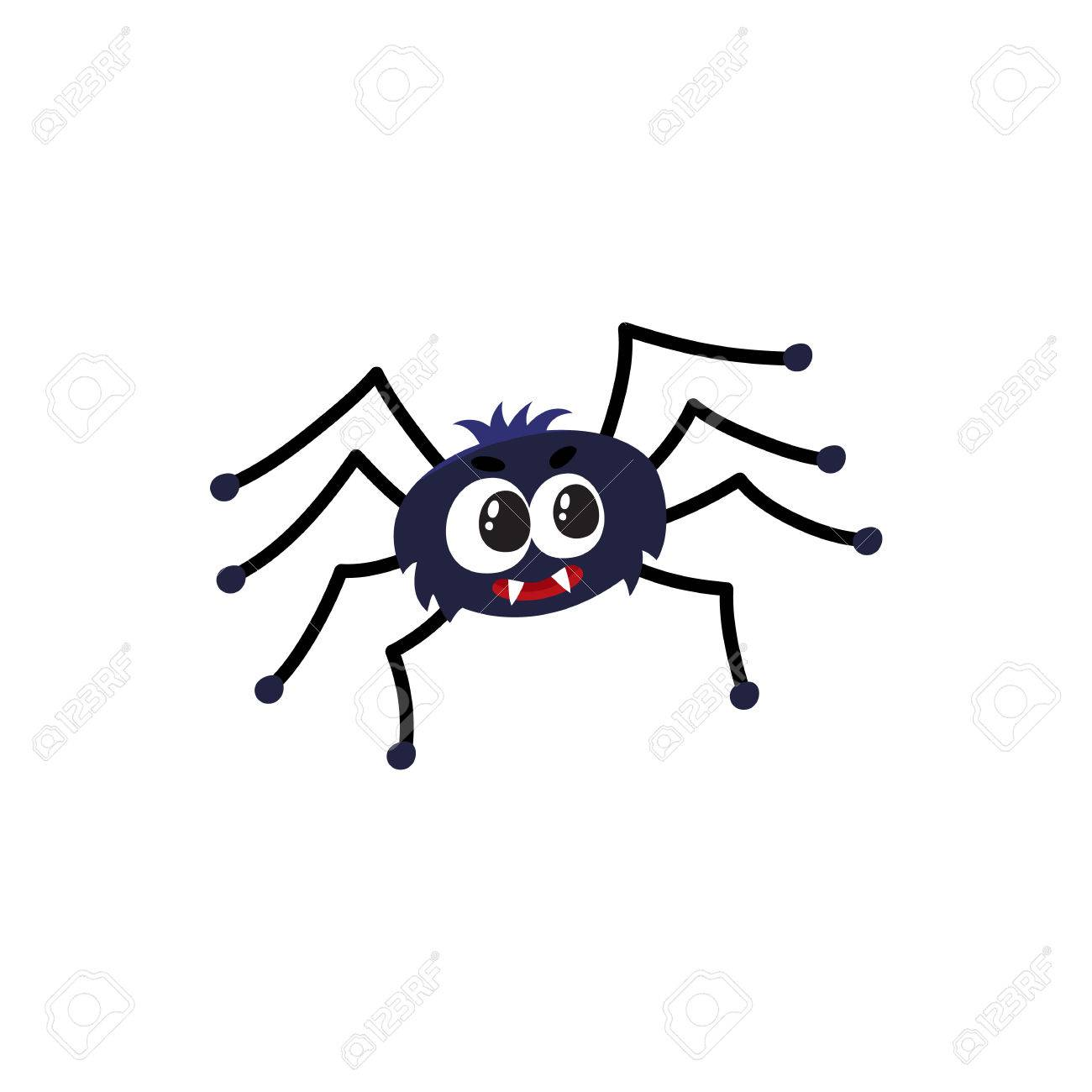 Cute and funny black spider traditional halloween symbol cartoon cute and funny black spider traditional halloween symbol cartoon vector illustration isolated on white biocorpaavc Choice Image