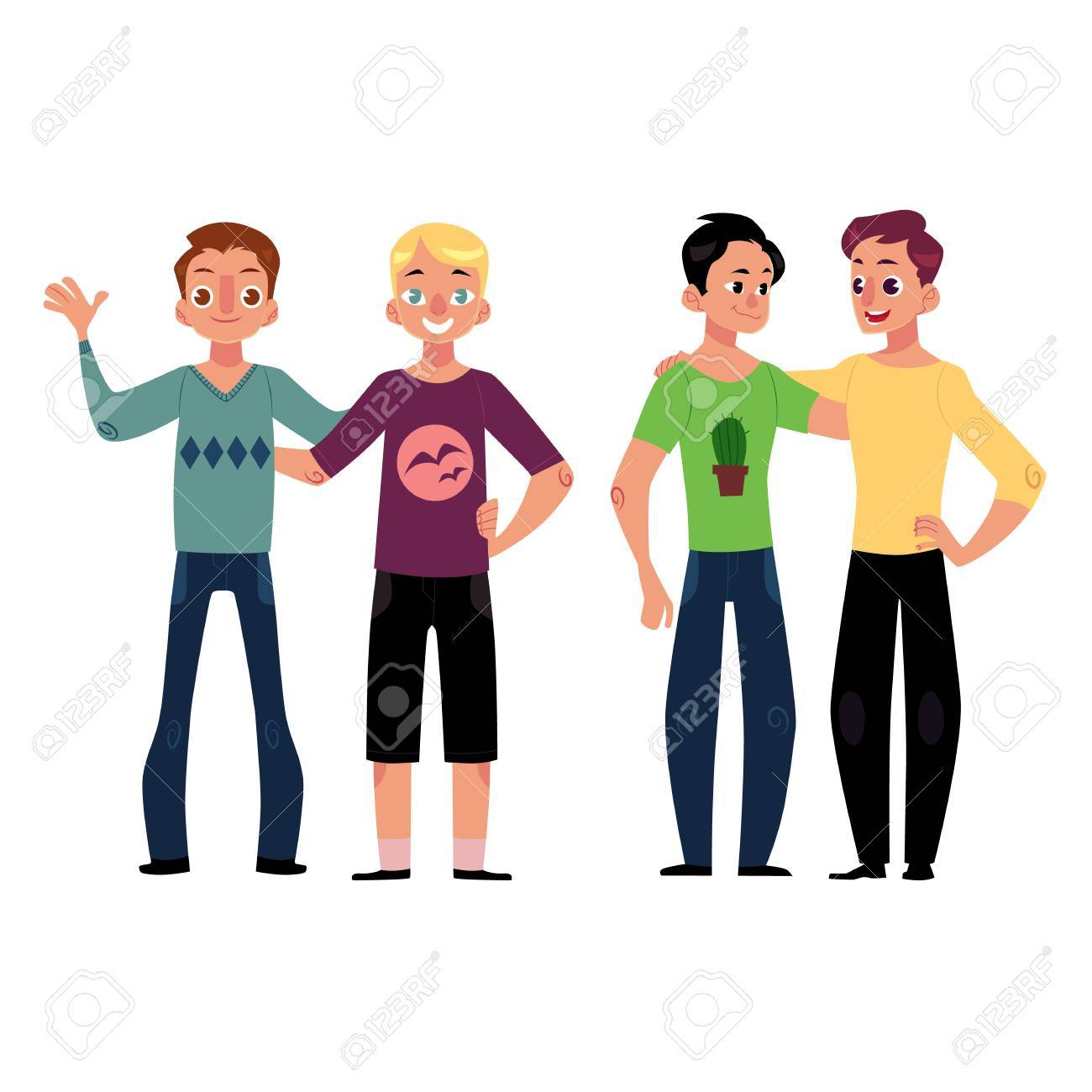 Male Friendship Concept Two Couple Of Boys Men Best Friends Stock Photo Picture And Royalty Free Image Image 82488796