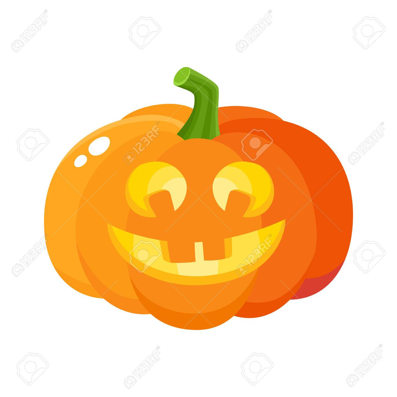 Laughing Happy Pumpkin Jack O Lantern With Funny Teeth Halloween Royalty Free Cliparts Vectors And Stock Illustration Image 82924642