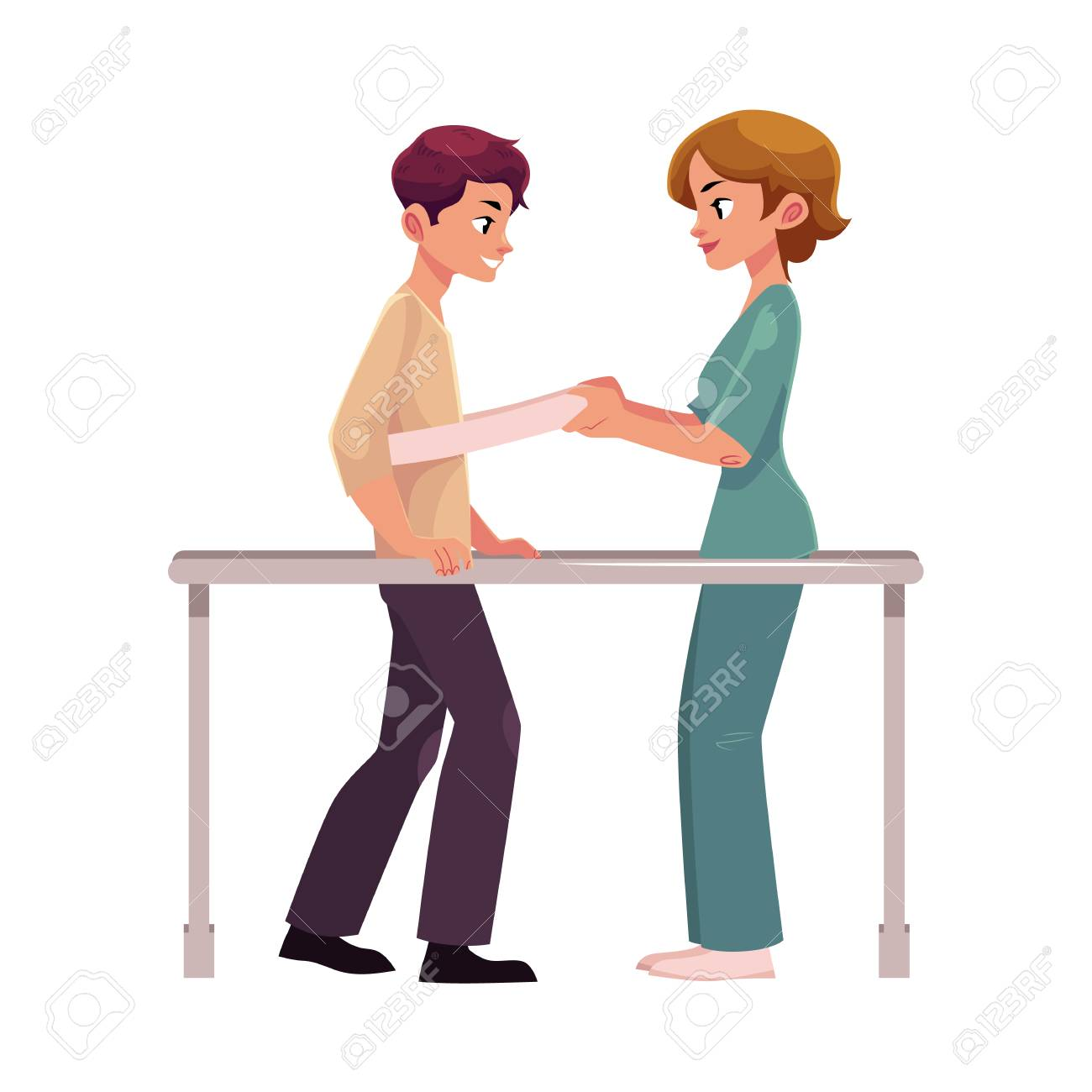 Medical Rehabilitation Physical Therapy Parallel Bars Therapist Royalty Free Cliparts Vectors And Stock Illustration Image 83141704
