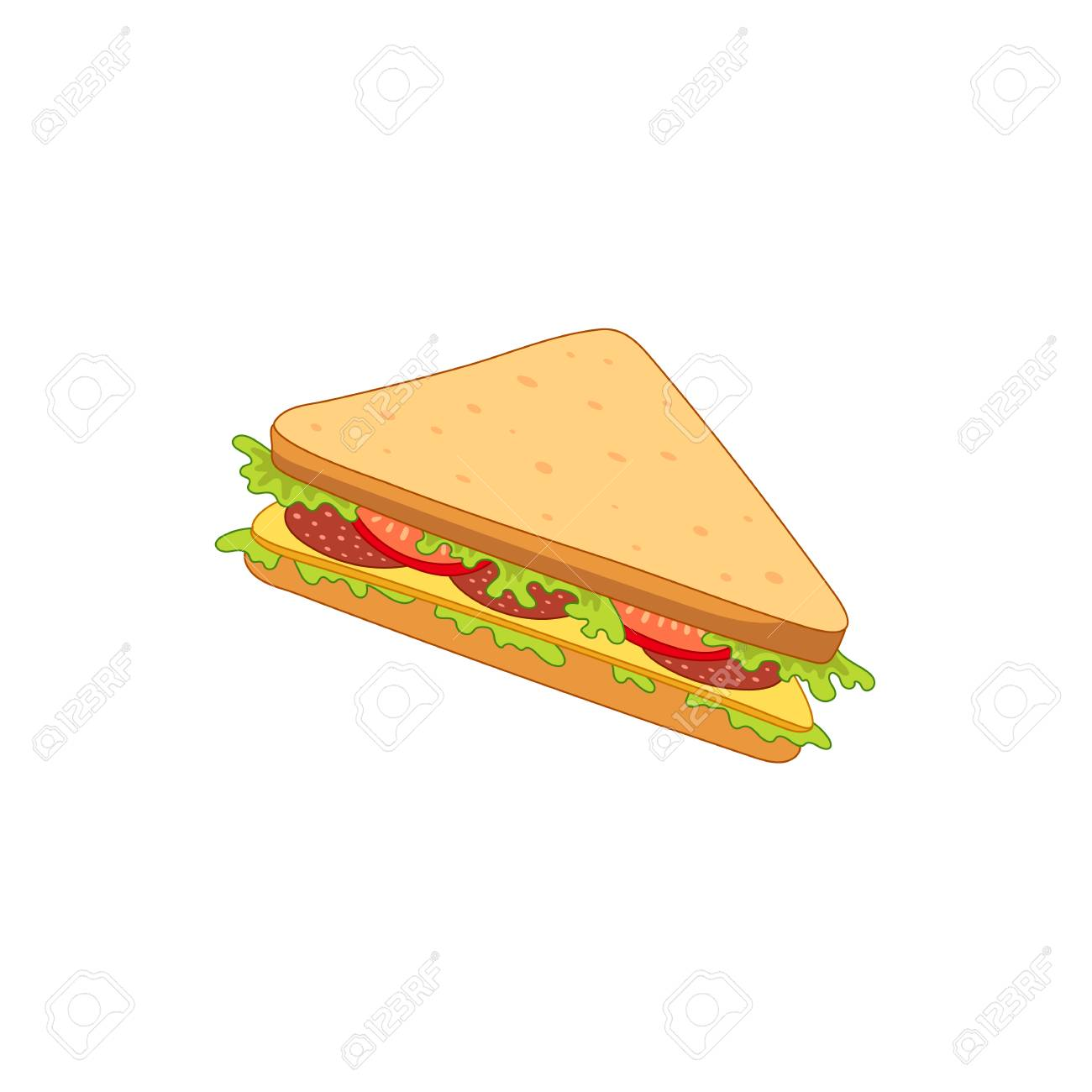 vector sandwich with vegetables fast food flat cartoon isolated royalty free cliparts vectors and stock illustration image 83141796 vector sandwich with vegetables fast food flat cartoon isolated