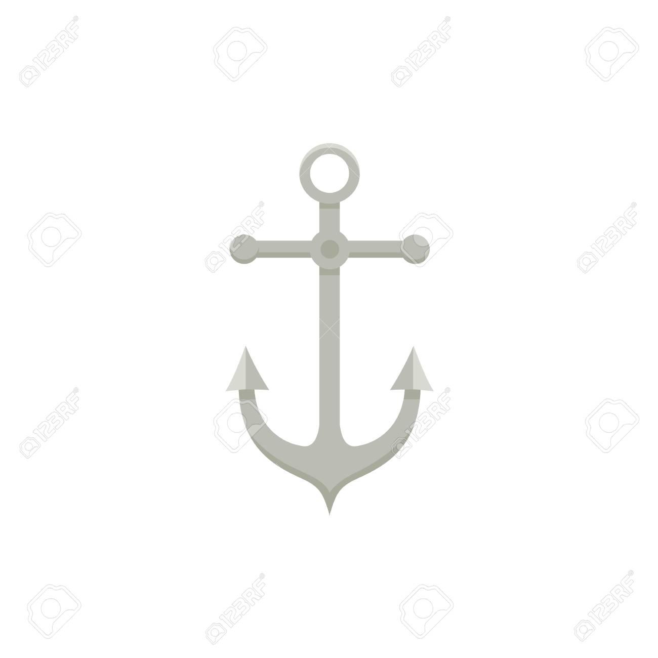 Ancre De Bateau Dessin ancre de bateau à voile en métal, illustration de vecteur de dessin
