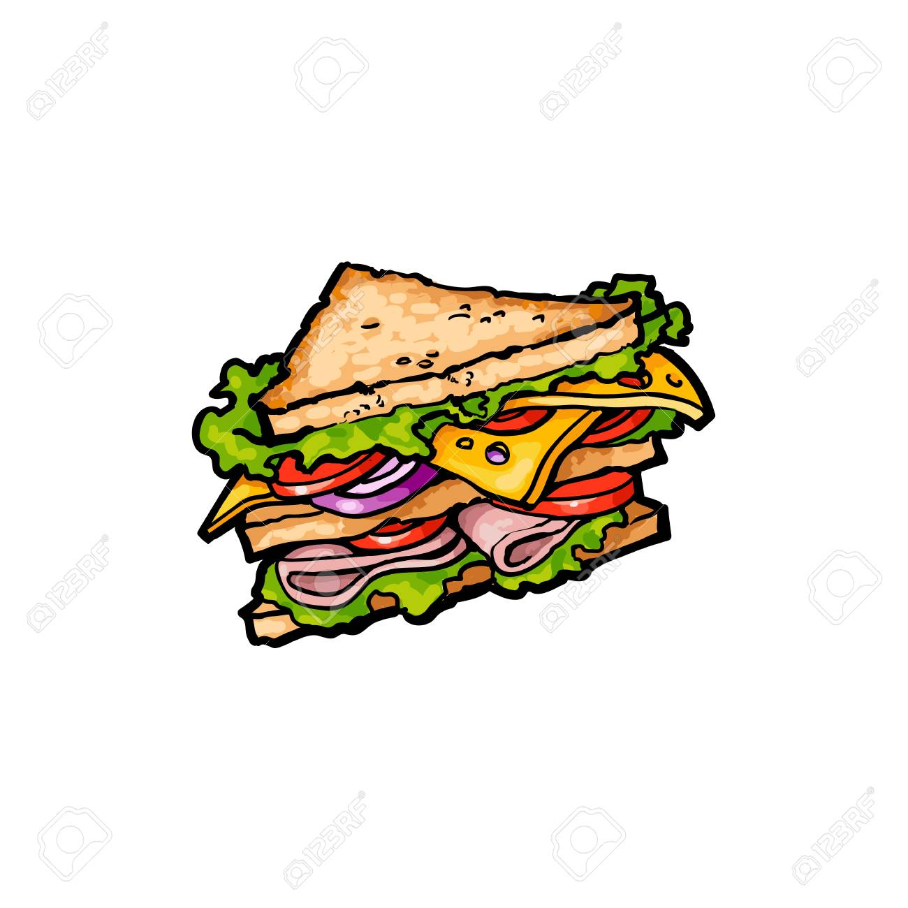 vector sketch sandwich with vegetables fast food flat cartoon royalty free cliparts vectors and stock illustration image 84404991 vector sketch sandwich with vegetables fast food flat cartoon