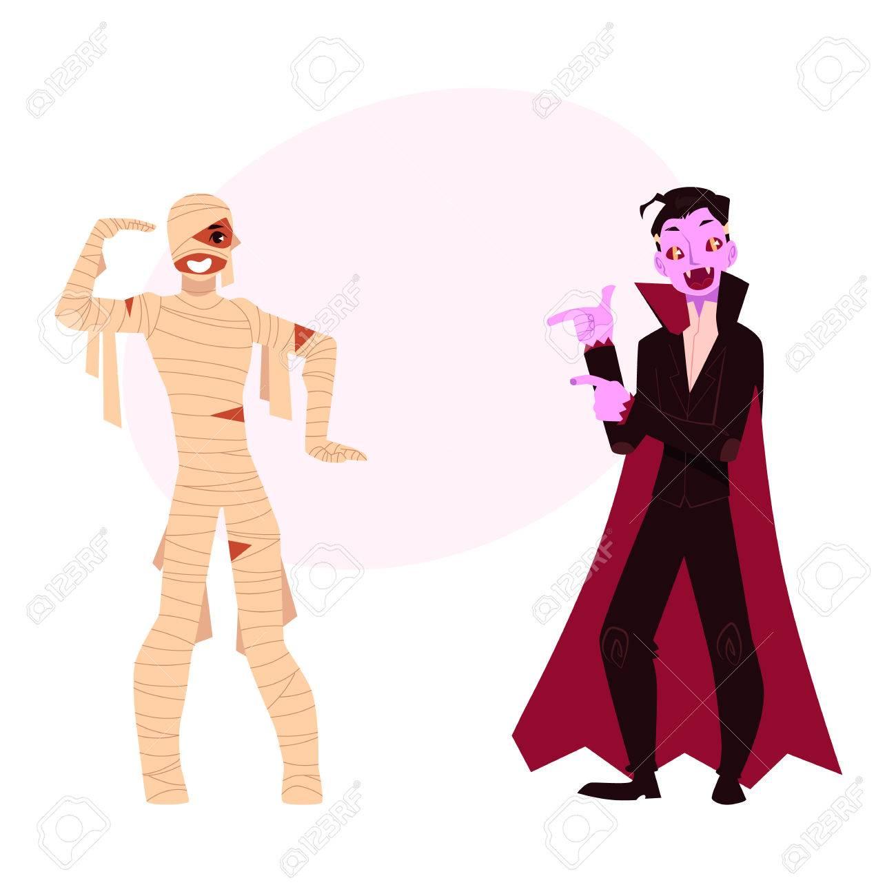 Junger Mann Kleidete In Den Halloween-Parteikostümen An - Mama Und ...