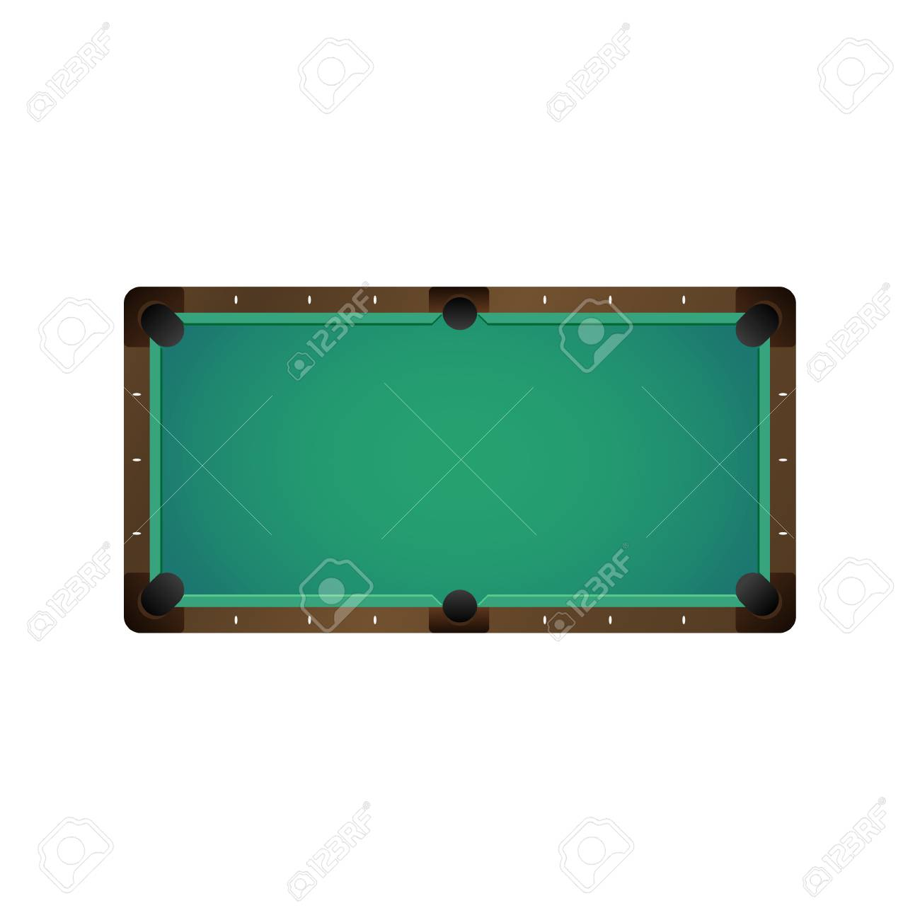 Vector   Vector Flat Cartoon Billiard Pool, Snooker Felt Empty Green Table  Top View. Isolated Illustration On A White Background. Playground For Cue  Sport ...