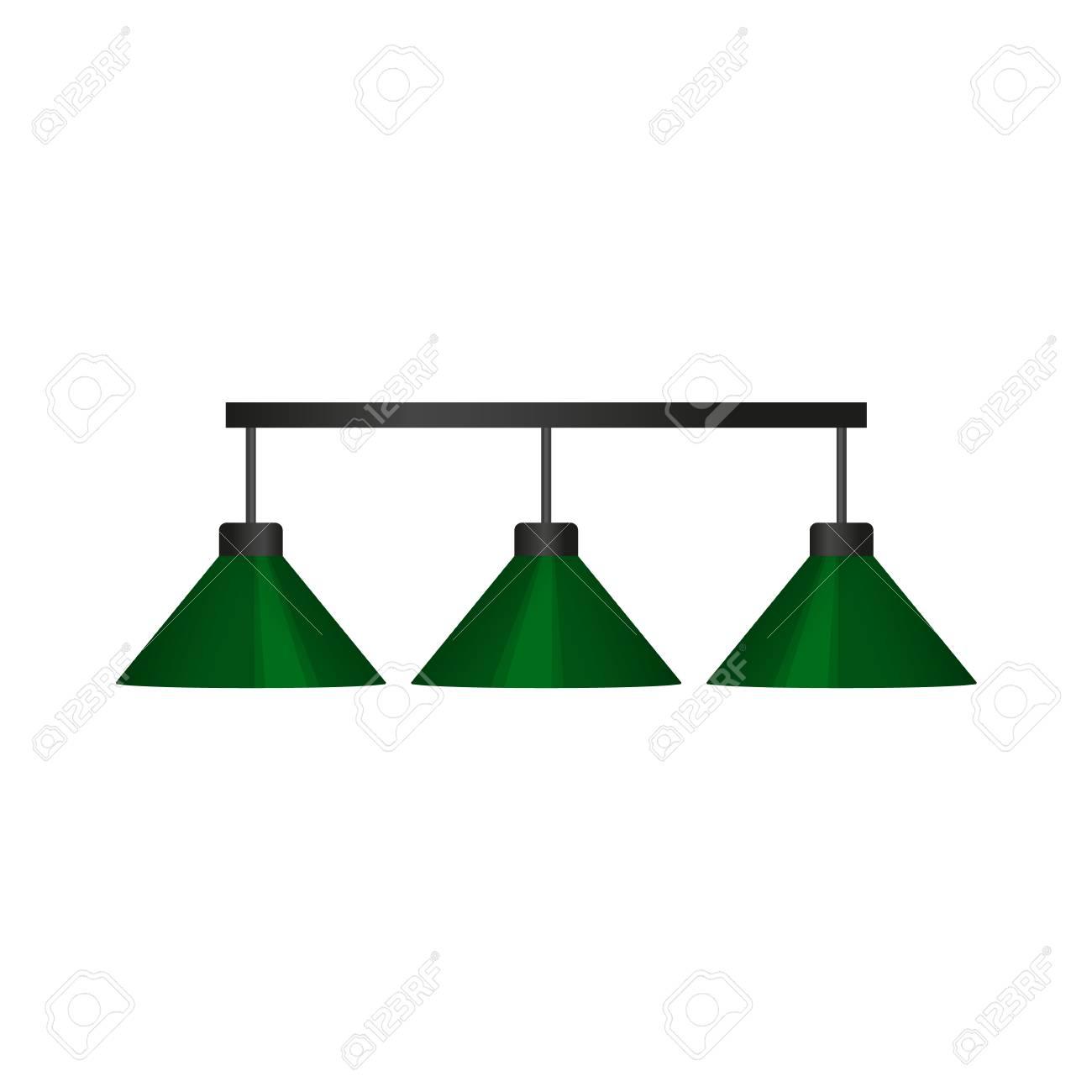 un billar lámpara de Vector de blancoSnooker animados aislada dibujos en verdeIlustración profesionalequipos colgante de fondo plana pool rChdQstx