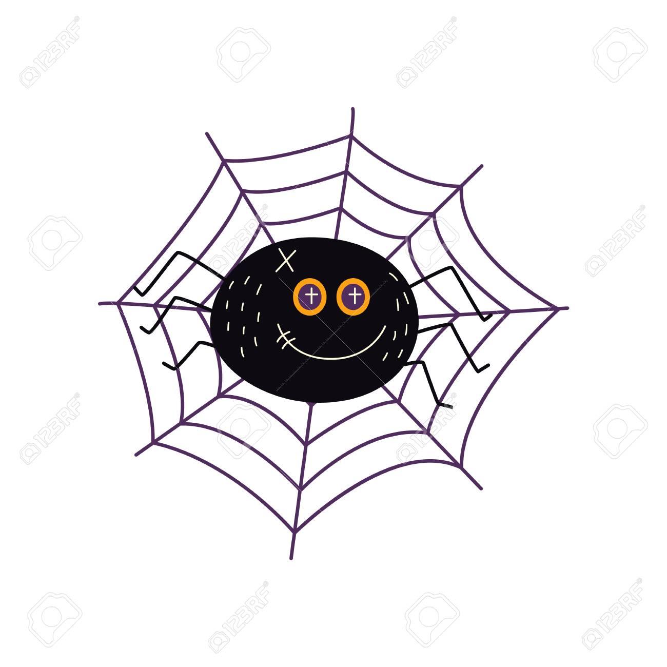 Vector Flat Cartoon Halloween Traditional Autumn Holiday Symbol