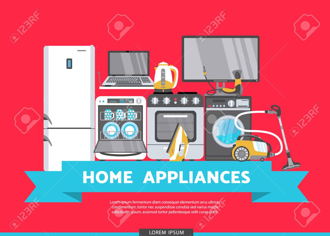 Vector Home Appliance Advertising Poster Banner Design Gas Stove Royalty Free Cliparts Vectors And Stock Illustration Image 89875253
