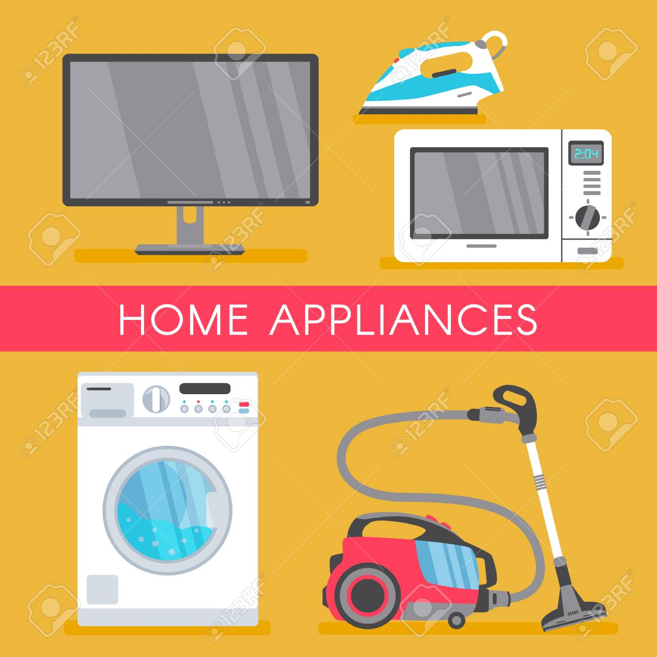 Vector Home Appliance Sale Poster Banner Design With Modern Royalty Free Cliparts Vectors And Stock Illustration Image 92124286