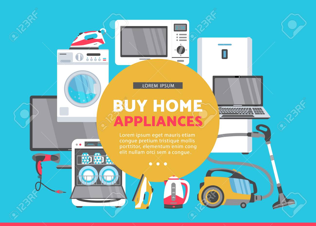 Vector Buy Home Appliance Advertising Poster Banner Design Gas