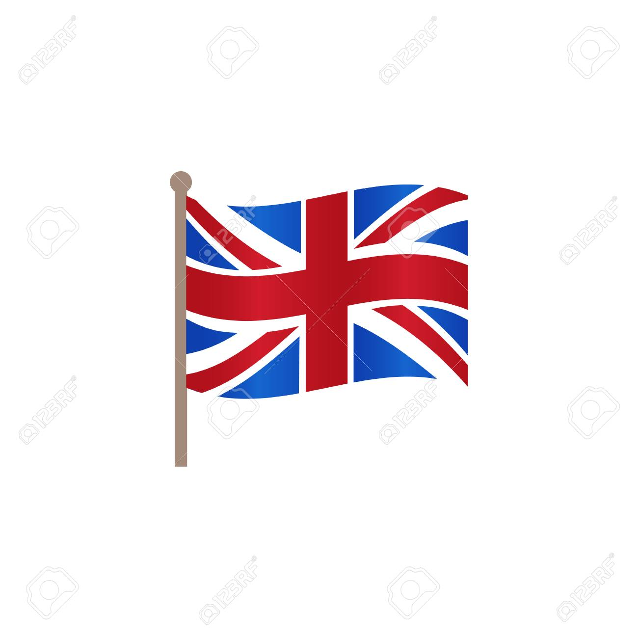 Vector flat Great Britain, United Kingdom union jack flag icon. Illustration on a white background. English national cultural state symbol for your design. - 92189677