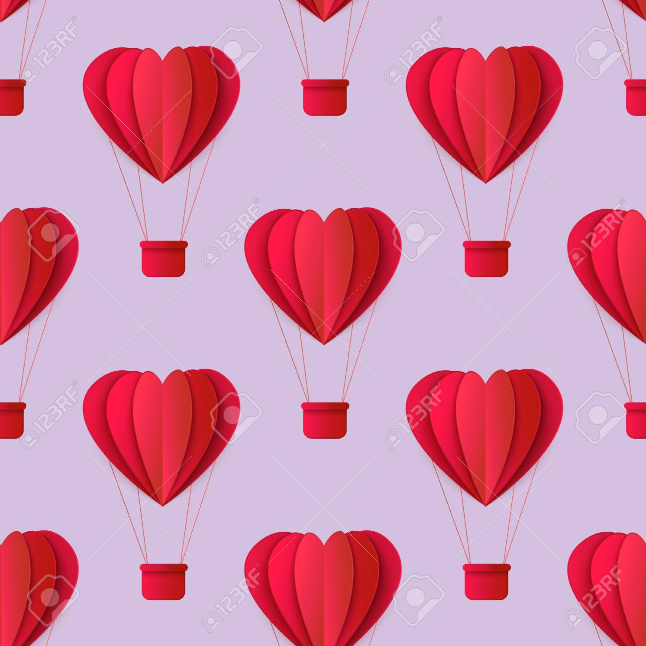 image regarding Printable Red Hearts known as Vector content valentines working day origami paper purple hearts seamless..