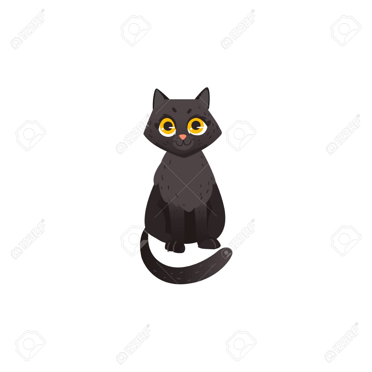 Image of: Kitten Cartoon Cute Black Cat Animal Sitting Front View Funny Hand Drawn Kitten Pet Quora Cartoon Cute Black Cat Animal Sitting Front View Funny Hand