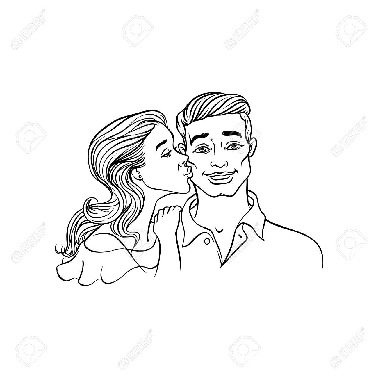 Weißer Kerl Mädchen Romantisch Schwarzes Piqsels